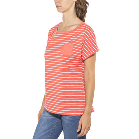 Jack Wolfskin Travel Striped T-Shirt Women hot coral stripes